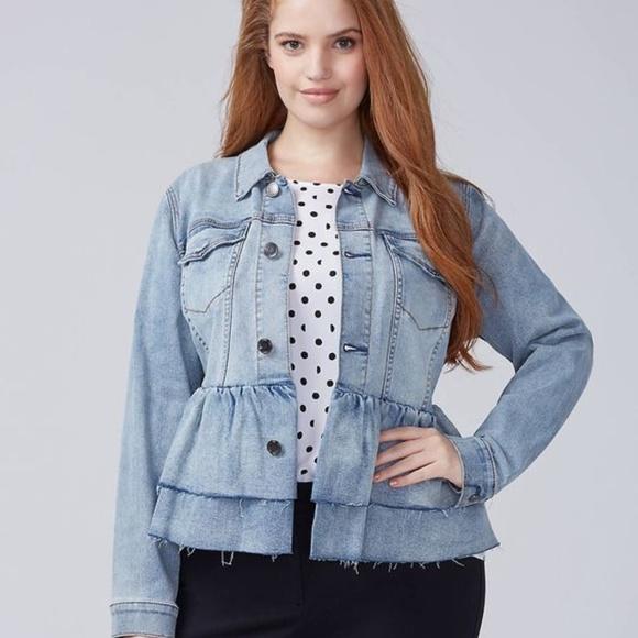 700bd86b105 NWT Denim Ruffle Jacket ~ Size 16